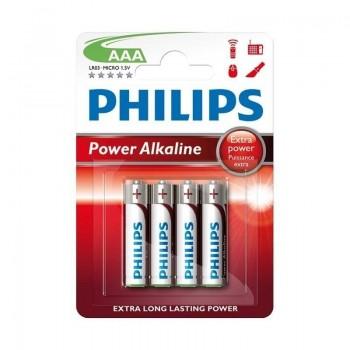 BLISTER 4 PILAS PHILIPS POWER ALKALINE LR03 AAA