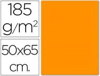 CARTULINA 50X65 185 G. NARANJA