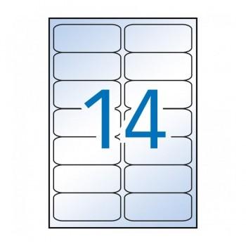 C/ 10 H. ETIQUETAS TRANSPARENTES 99,1X38,1 APLI RF 10052