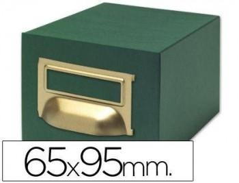 FICHERO FICHAS TELA VERDE 500 FICHAS N.1 -TAMAÑO 65X95 MM COD. 03599