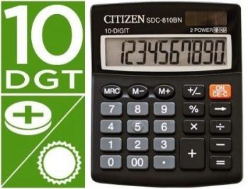 CALCULADORA CITIZEN SOBREMESA SDC-810 BN 10 DIGITOS NEGRO COD 50397