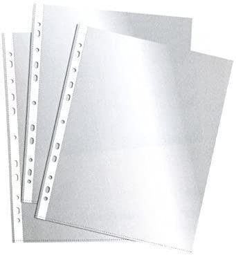 C/ 100 FUNDAS PORTADOCUMENTOS PVC 80 CON REFUERZO CUARTO 11 TALADROS ESSELTE RF. 2526