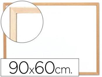 PIZARRA BLANCA MELAMINA 60X90 MARCO DE MADERA SPAPER