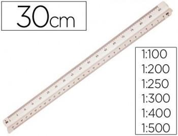 ESCALA M+R 1632.05 -1:100-200-250-300-400-500 -30 CM -ESTUCHE FLEXIBLE COD. 02855