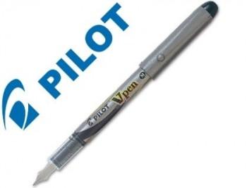 PLUMA PILOT V PEN SILVER DESECHABLE NEGRO SVP-4WB COD. 43086