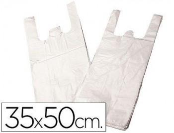 BOLSA PLASTICO CAMISETA 35X50 CM -PAQUETE 200 COD 28095