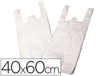 BOLSA PLASTICO CAMISETA 40X60 CM -PAQUETE 200 COD 28098