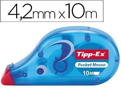MAQUINA CORRECTORA POCKET MOUSE TIPP-EX 4,2MM X 10M