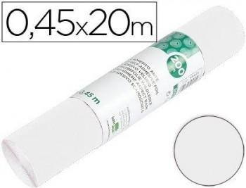 ROLLO ADHESIVO LIDERPAPEL UNICOLOR BLANCO BRILLO ROLLO DE 0,45 X 20 MT COD 59418