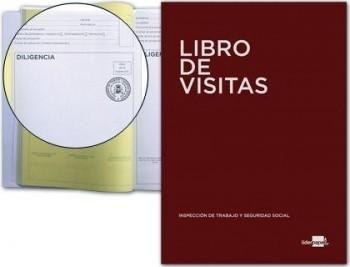 LIBRO LIDERPAPEL DIN A4 100 H REGISTRO DE VISITAS DE LA INSPECCION DE TRABAJO COD 52257