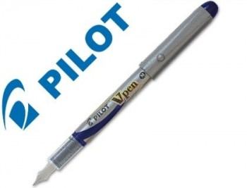 PLUMA PILOT V PEN SILVER DESECHABLE AZUL SVP-4ML COD. 43085