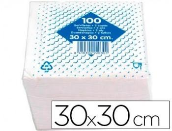 P/ 100 SERVILLETA ALGODON 30X30 CMS 2 CAPAS 100 COD.24571
