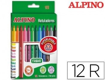 ROTULADOR ALPINO -CAJA DE 12 COLORES COD 36314