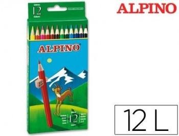 LAPICES DE COLORES ALPINO 654 C/ DE 12 COLORES LARGOS COD 28327