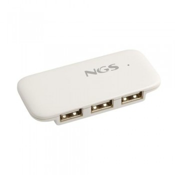 HUB 3 PUERTOS 2.0 USB NGS IHUB4 COLOR BLANCO