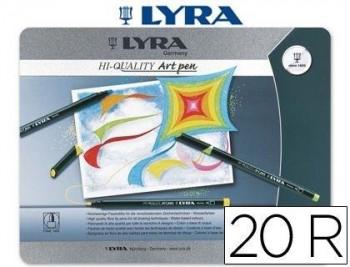 ROTULADOR LYRA HI-QUALITY ART PEN DE 20 COLORES -CAJA METAL COD 53021