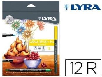 ROTULADOR LYRA AQUA BRUSH DUO CAJA DE 12 COLORES COD 51950