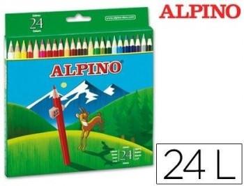 LAPICES DE COLORES ALPINO 658 C/ DE 24 COLORES LARGOS COD 28329