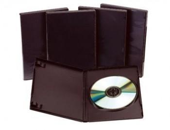 CAJA DVD Q-CONNECT -CON INTERIOR NEGRO -PACK DE 5 UNIDADES COD 31733
