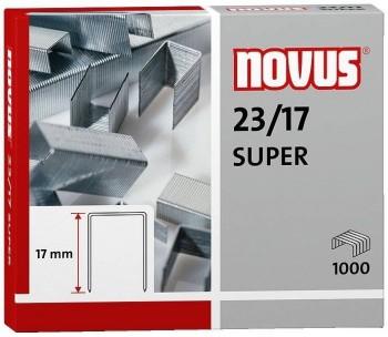 CAJA 1.000 GRAPAS NOVUS 23/17 SUPER