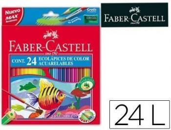 LAPICES DE COLORES FABER-CASTELL ACUARELABLES C/ 24 SURTIDOS COD 52195