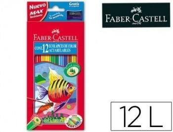 LAPICES DE COLORES FABER-CASTELL ACUARELABLES C/ 12 SURTIDOS COD 52194