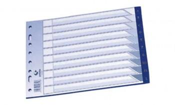 INDICE AZ 1/4 APAISADO AZUL PVC 150 GRAFOPLAS