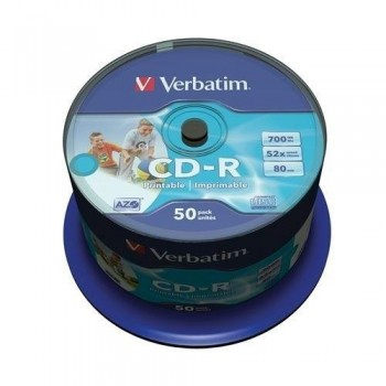 TARRINA 50 CD-R IMPRIMIBLE VERBATIM 700MB 52X