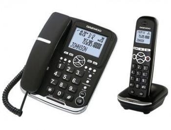 TELEFONO DAEWOO DTD-5500 COMBO FIJO+INALAMBRICO MANOS LIBRES RELLAMADA PANTALLA RETROILUMINADA COLOR
