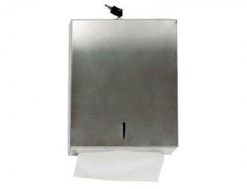 DISPENSADOR Q-CONNECT DE TOALLITAS DE PAPEL ACERO INOXIDABLE 283X100X365 MM COD 75184