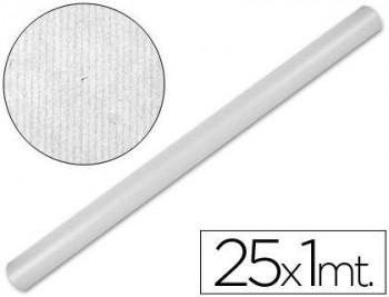 PAPEL KRAFT LIDERPAPEL BLANCO -ROLLO 25X1 MT COD 27221