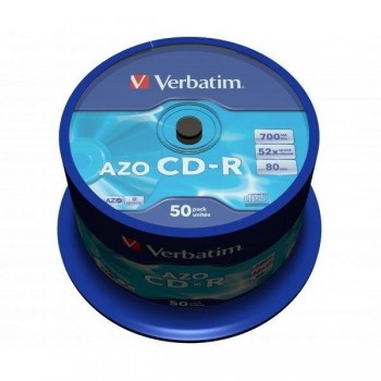 TARRINA 50 CD-R VERBATIM 52X 700MB EXTRA PROTECTION