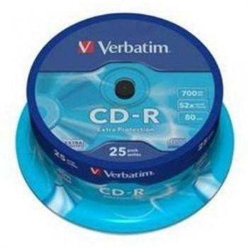 TARRINA 25 CD-R VERBATIM 700 MB 52X EXTRA PROTECTION