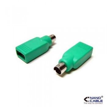NANOCABLE - ADAPTADOR USB A PS/2 - CONEXIÓN USB-A/H A PS/2/M