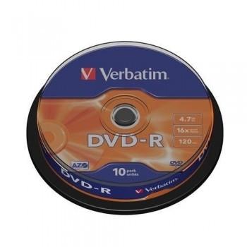 TARRINA 10 DVD-R VERBATIM 4.7GB 16X