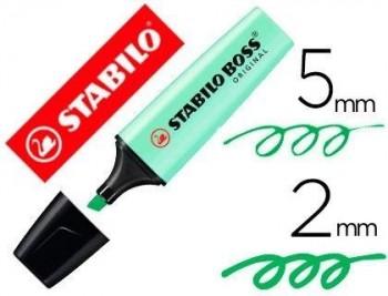 ROTULADOR STABILO BOSS PASTEL FLUORESCENTE 70 PIZCA DE MENTA COD 64351