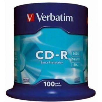 TARRINA 100 CD-R VERBATIM  700MB 52X DATALIFE