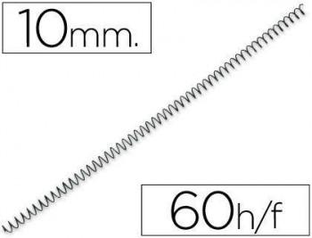 C/ 100 ESPIRALES METALICOS Nº 10 PASO 64 5:1 NEGRO GBC
