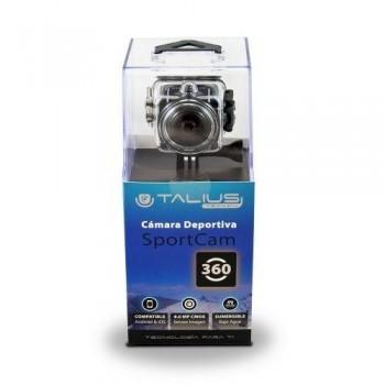 TALIUS - CAMARA SPORTCAM 360º 1080P WIFI NEGRA - INCLUYE CARCASA ACUATICA