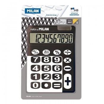BLISTER CALCULADORA TECLAS GRANDES MILAN 150610KBL 10 DIGITOS NEGRA