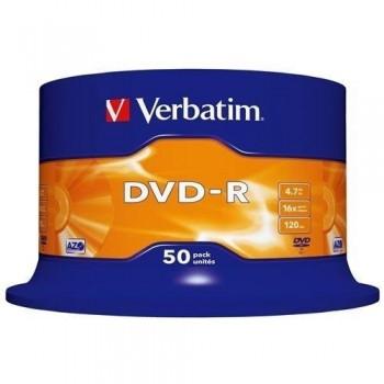 TARRINA 50 DVD-R VERBATIM 4.7GB 16X