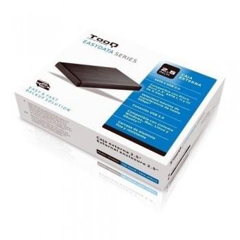 CARCASA ALUMINIO DE HDD / SSD TQE-2527B - TOOQ - 2.5 - SATA3 - USB 3.0 - NEGRA