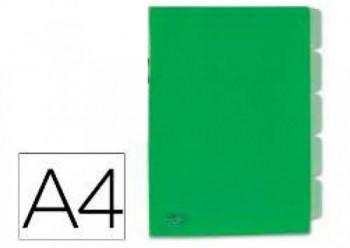 DOSSIER PLASTICO 5 SEPARADORES VERDE BEAUTONE COD 34073