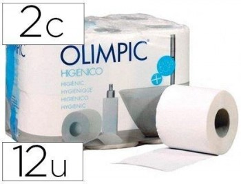 PAPEL HIGIENICO OLIMPIC 2 CAPAS PAQUETE DE 12 ROLLOS COD 72336