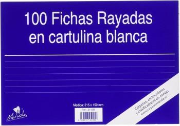 FICHA RAYADA MARIOLA Nº5 215X160 MM PAQUETE DE 100