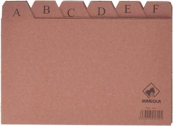 INDICE FICHERO CARTON -Nº 4 -TAMAÑO 200X120 MARIOLA
