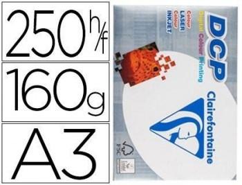 PAPEL FOTOCOPIADORA CLAIREFONTAINE DIN A3 160 GRAMOS PAQUETE DE 250 HOJAS COD 72171
