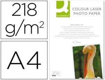 PAPEL Q-CONNECT KF01935 FOTO GLOSSY DIN A4 PARA FOTOCOPIADORAS E IMPRESORAS LASER -PAQUETE DE 100 HO