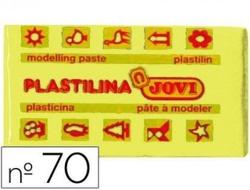 PLASTILINA JOVI 70 AMARILLO CLARO -UNIDAD -TAMAÑO PEQUEÑO COD 22120