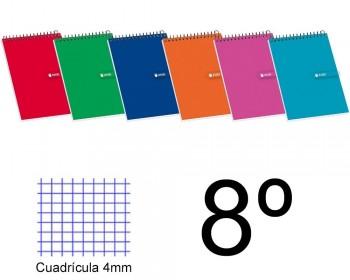 BLOC ESPIRAL OCTAVO APAISADO CUADROS 4X4 TAPA BLANDA 80 H. 60 GR ENRI